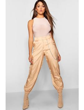 Chain Belt Cargo Utility Trousers by Boohoo