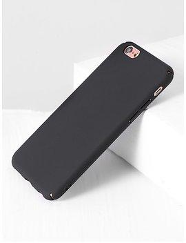 Plain I Phone Case In Black by Sheinside