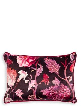 Velvet Statement Floral Envelope Cushion by Tracked Express Delivery: