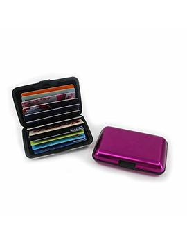 Greenants 12 Slots Aluma Wallet Multi Pockets Aluminum Purse Credit Cards Organizing Hard Case Holder Rose Red by Greenants