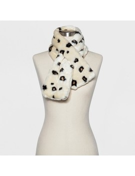 Women's Faux Fur Mini Pull Through Stole Scarf   A New Day™ by A New Day