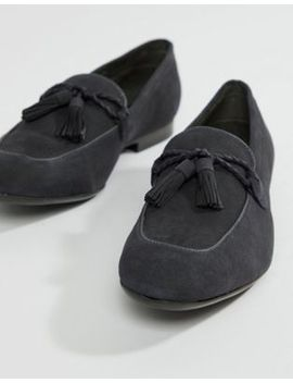 Dune Tassel Loafers In Navy Suede by Dune