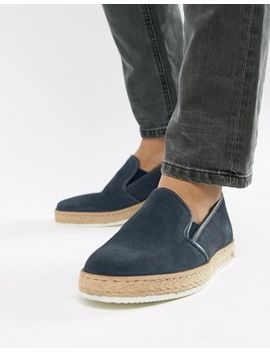 Dune Slip On Sneakers With Espadrille Detail by Dune