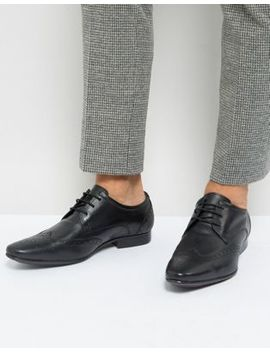 Silver Street Smart Brogues In Black Leather by Brogues