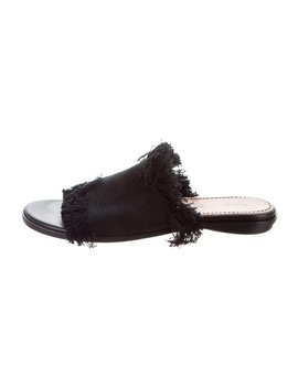 Fringe Accented Slide Sandals by Proenza Schouler