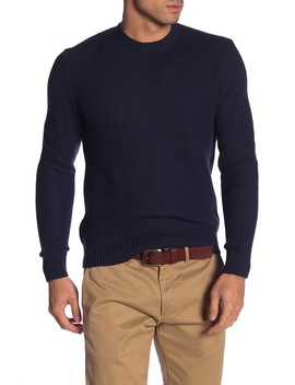 Honeycomb Knit Crew Neck Sweater by Brooks Brothers