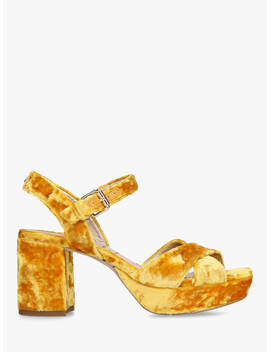 Sam Edelman Jolene Block Heel Sandals, Yellow Velvet by Sam Edelman