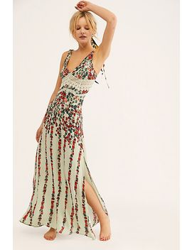 Claire Printed Maxi Slip by Free People