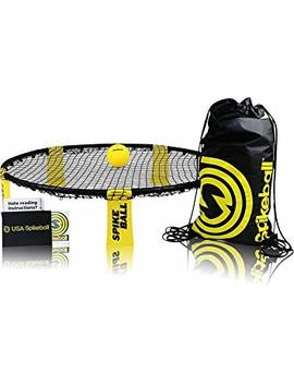Spikeball 1 Ball Sports Game Set   Outdoor Indoor Game For Teens, Family   Yard, Lawn, Beach, Tailgate   Includes Playing Net, 1 Ball, Drawstring Bag, Rule Book   Seen On Shark Tank (1 Ball Set) by Amazon