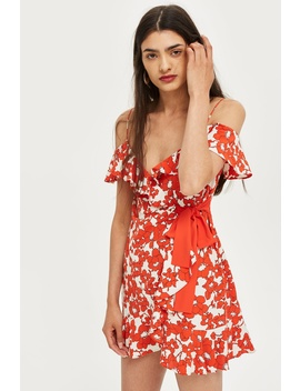 Poppy Ruffle Mini Dress by Topshop