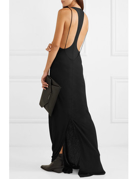 Open Back Jersey Maxi Dress by Ann Demeulemeester