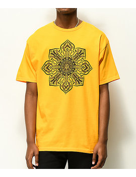 Obey Stop The Violence Mandala Gold T Shirt by Obey