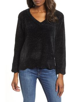 Scalloped Chenille Sweater by Wit & Wisdom