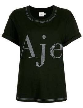 Contrast Stitched Logo T Shirt by Aje