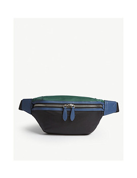 Tri Tone Nylon And Leather Bum Bag by Burberry