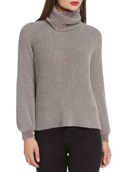 Bloused Sleeve Chenille Turtleneck Sweater by Willow & Clay
