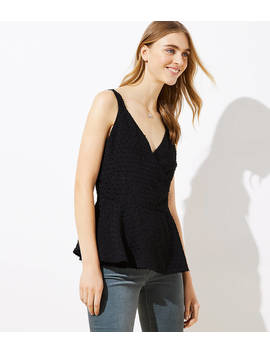 Swiss Dot Wrap Cami by Loft