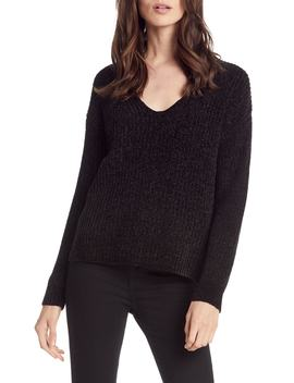 Chenille V Neck Sweater by Michael Stars