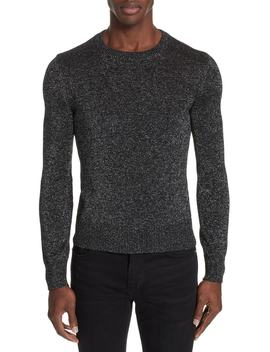 Metallic Crewneck Sweater by Saint Laurent