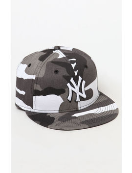New Era Yankees Camouflage Fitted Hat by Pacsun
