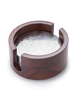 Kenya Rosewood Coaster Set by Mary Jurek Design