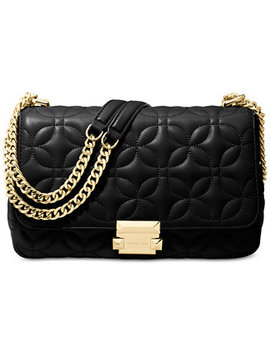 Sloan Quilted Floral Chain Shoulder Bag by Michael Michael Kors
