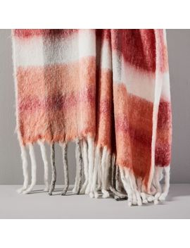 Modern Railroad Plaid Soft Touch Throw by West Elm