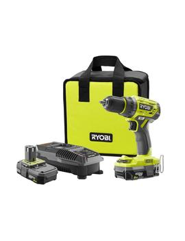 18 Volt One+ Lithium Ion Cordless Brushless 1/2 In. Drill/Driver With (2) 2.0 Ah Batteries, Charger, And Bag by Ryobi