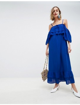 Lost Ink Cami Maxi Dress With Ruffle Layered Hem by Lost Ink.