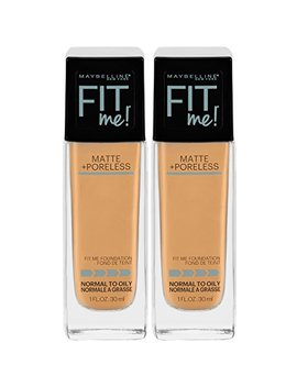Maybelline New York Fit Me Matte + Poreless Liquid Foundation Makeup, Soft Tan, 2 Count by Maybelline New York