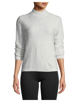 Waffle Knit Mock Neck Wool Cashmere Sweater by Vince