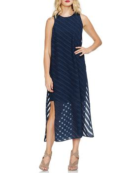 Diagonal Stripe Chiffon Maxi Dress by Vince Camuto