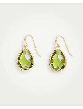 Bezel Drop Earrings by Ann Taylor