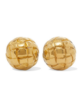 Dichotomy Gold Plated Silver Earrings by Bottega Veneta