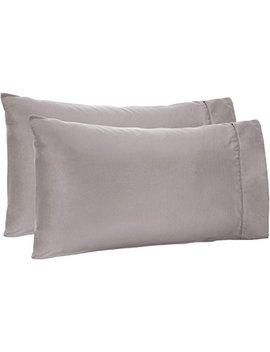 Amazon Basics Microfiber Pillowcases   2 Pack, Standard, Dark Grey by Amazon Basics