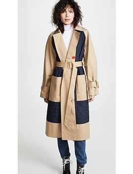 Combo Trench Coat by Tibi