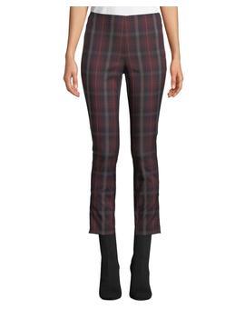 Simone Cropped Skinny Plaid Trousers by Rag & Bone