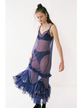 Style Mafia Mischa Sheer Mesh Ruffle Dress by Style Mafia