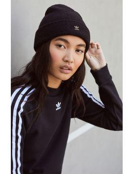 Adidas Black Fuzzy Beanie by Pacsun