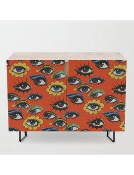 60s Eye Pattern Credenza by