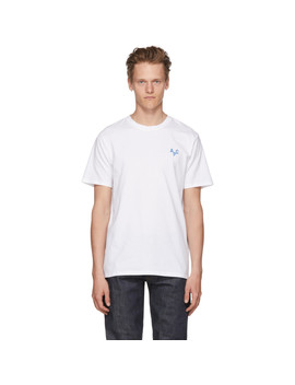 White & Blue Emeric T Shirt by A.P.C.