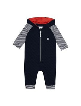 J By Jasper Conran   Baby Boys' Navy Quilted Romper Suit by J By Jasper Conran