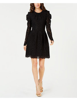 Puff Sleeve Floral Lace Dress by Michael Michael Kors