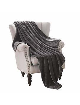 "Exclusivo Mezcla Luxury Flannel Velvet Plush Throw Blanket – 50"" X 70"" (Grey) by Exclusivo Mezcla"