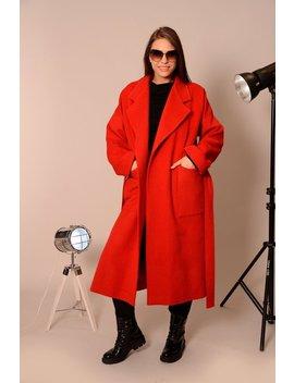 Wool Coat, Coats Women, Plus Size Coat, Winter Coat, Oversized Coat, Red Coat, Maxi Coat, Boho Coat, Elegant Coat, Warm Coat, Danelly D18.7.5 by Etsy