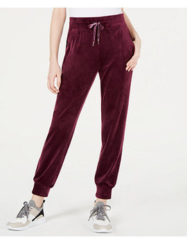 Velour Joggers, Created For Macy's by Ideology