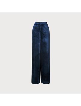 Noemi Navy Velvet Pants by L.K.Bennett