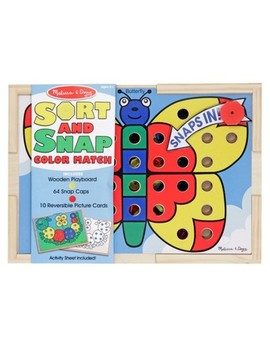 Melissa & Doug® Sort And Snap Color Match   Sorting And Patterns Educational Toy by Melissa & Doug