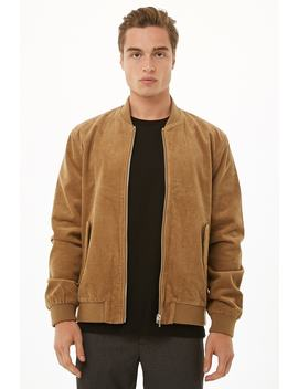 Corduroy Bomber Jacket by Forever 21