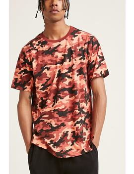 Vented Camo Print Tee by Forever 21